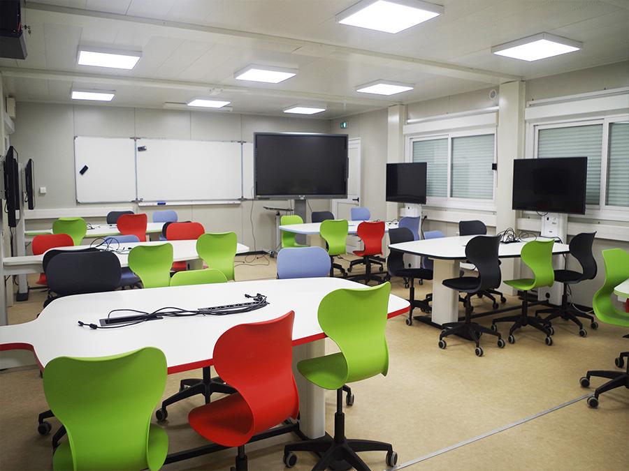 Espaces pour le travail en mode projet, classes collaboratives